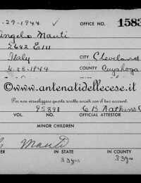 Mauti Angelo (1882-1972) - Naturalization