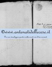 *14863020* Estratto nascita Michetti Benedetto (1789-1860)