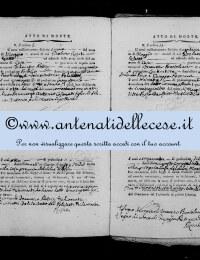 *8784423* 3-Atto di morte di Cosimati Innocenzo Antonio (1810-1818) *8784423* 4-Atto di morte di Lustri (Faustini) Rosa (1768-1818)