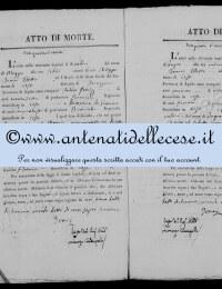 *8784767* 4-Atto di morte di Cipollone Arcangelo (10/05/1826) *8784767* 5-Atto di morte di Patrizi Giovanni (11/06/1826)