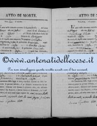 *8784871* 2-Atto di morte di Sartore Giovanna Antonia (02/02/1828) *8784871* 3-Atto di morte di Pompei Angelo Nicola (12/05/1828)