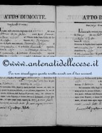 *8784907* 2-Atto di morte di Di Matteo Francesca (23/02/1829) *8784907* 3-Atto di morte di De Simone Gabriele (18/03/1829)
