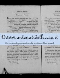 *8785123* 2-Atto di morte di Tomei Antonio (02/01/1834) *8785123* 3-Atto di morte di De Luca Maria Grazia (15/01/1834)