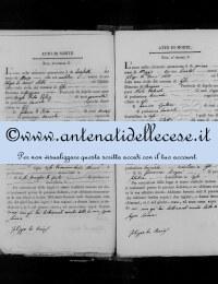 *8785791* 5-Atto di morte di Micocci Domenica (17/03/1848) *8785791* 6-Atto di morte di Cipollone Anna Cristina (01/05/1848)