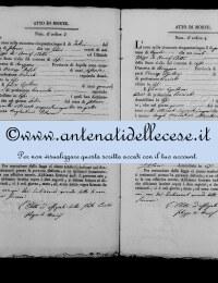 *8786143* 3-Atto di morte di Petracca Angelantonio (12/02/1855) *8786143* 4-Atto di morte di Marchionni Angelo Marcantonio (01/04/1855)