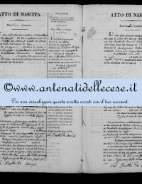 *8786821* 10-Atto di nascita di Cipollone Candida Rosa (21/08/1822) *8786821* 11-Atto di nascita di Cipollone Nunzio Antonio (06/09/1822)