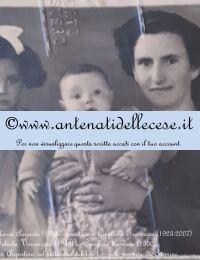 Bruno Maria Augusta (1928) con i figli Cipollone Carmine (1950) e Felicita (1948)