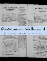 *8787237* 14-Atto di nascita di Patrizi Maria Antonia (03/09/1829) *8787237* 15-Atto di nascita di Cipollone Benedetta Antonia (28/09/1829)
